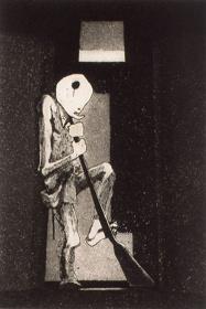 浜田知明『初年兵哀歌(歩哨)』1954年 神奈川県立近代美術蔵
