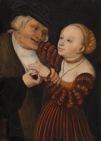 ルカス・クラーナハ(父)『不釣合いなカップル』1530-1540年頃 ウィーン美術史美術館 ©KHM―Museumsverband.