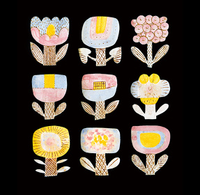 ZUAN&ZOKEI by Makoto Kagoshima Poster 9 Flowers in the dark ©ZUAN&ZOKEI