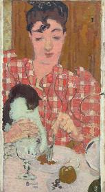 ピエール・ボナール『格子柄のブラウス』 1892年 油彩、カンヴァス ©RMN-Grand Palais (musée d'Orsay) / Hervé Lewandowski / distributed by AMF