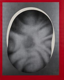 泉茂『凹む楕円』 油彩、キャンバス 162.0 × 130.3 cm 1981年 the three konohana出品作品