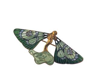ルネ・ラリック『ブローチ 翼のある風の精』1898年頃 東京国立近代美術館蔵