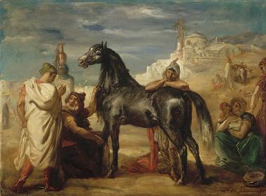 テオドール・シャセリオー『雌馬を見せるアラブの商人』1853年 ルーヴル美術館(リール美術館に寄託) Photo©RMN-Grand Palais / Jacques Quecq d'Henripret / distributed by AMF