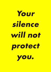 大澤悠大+カナイフユキ『Your silence will not protect you.』フライヤービジュアル