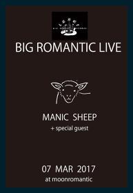 Manic Sheep『Brooklyn』release Japan tour 東京公演フライヤービジュアル