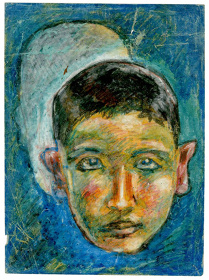 水木しげる『自画像「思い」』1936年 ©水木プロダクション