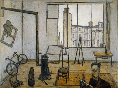 ベルナール・ビュフェ『アトリエ』油彩 1947年(後期のみ展示)