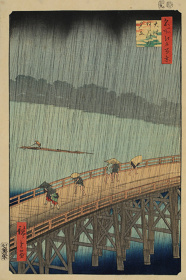 歌川広重『名所江戸百景 大はしあたけの夕立』1857年、原安三郎コレクション(前期展示)