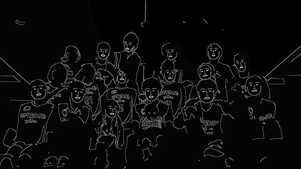 早川翔人『みなさんといっしょ』2016年 インタラクティブ映像 1分30秒
