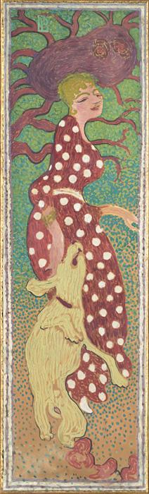 ピエール・ボナール『庭の女性たち 白い水玉模様の服を着た女性』1890-91年 デトランプ/カンヴァスに貼り付けた紙、装飾パネル ©RMN-Grand Palais (musée d'Orsay) / Hervé Lewandowski / distributed by AMF