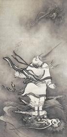 雪村筆『呂洞賓図』 重要文化財 1幅 119.2×59.6cm 奈良・大和文華館蔵【展示期間:3月28日~4月23日】