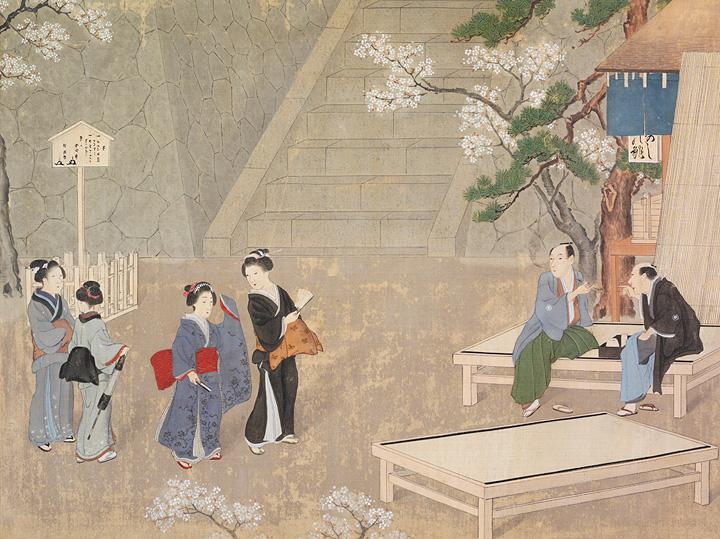川原慶賀『人の一生「お見合い(出会い)」』19世紀、長崎歴史文化博物館蔵