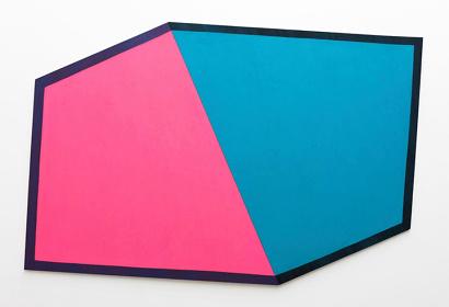 五月女哲平『Pink, blue, and the others』 2014年 アクリル、カンヴァス