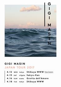『GIGI MASIN JAPAN TOUR 2017』フライヤービジュアル