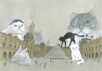 松本大洋『ルーヴルの猫』©MATSUMOTO Taiyou / Shogakukan / Futuropolis / Musée du Louvre éditions