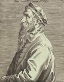 ヨハネス・ウィーリクス(版刻)『ピーテル・ブリューゲル1世の肖像(部分)』1600年 エングレーヴィング Museum BVB, Rotterdam, Netherlands