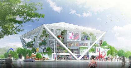 『台南市美術館』 進行中 台湾・台南 設計:坂茂建築設計 ©坂茂建築設計