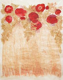 今村文『PQRST6』 2017年 水彩、コラージュ 100.5×76.4cm ©Fumi IMAMURA, courtesy of WAITINGROOM