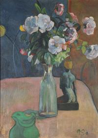 ポール・ゴーギャン『バラと彫像』1889年 油彩、カンヴァス 73.2×54.5cm Reims, Musée des Beaux-Arts ©MBA Reims 2015/Christian Devleeschauwer.