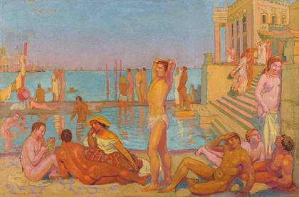 モーリス・ドニ『魅せられた人々』1907年 油彩、カンヴァス 80.2×120.6cm Reims, Musée des Beaux-Arts ©MBA Reims 2015/Christian Devleeschauwer.