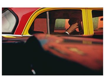ソール・ライター『タクシー』 1957年 発色現像方式印画 ソール・ライター財団蔵 ©Saul Leiter Estate