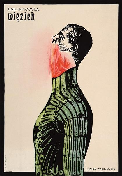 『囚人:ルイージ・ダッラピッコラ』ポスター 1962年 ポズナン国立美術館蔵 ©ADAGP, Paris & JASPAR, Tokyo, 2017 E2551
