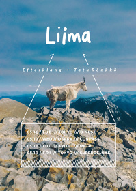 『LIIMA(EFTERKLANG + TATU RÖNKKÖ)JAPAN TOUR 2017』フライヤービジュアル