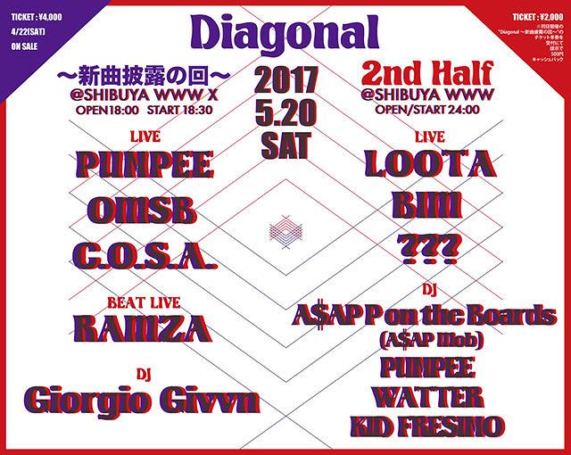 『Diagonal』フライヤービジュアル
