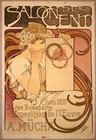 アルフォンス・ミュシャ『サロン・デ・サンでのミュシャ展』1897年 OZAWAコレクション