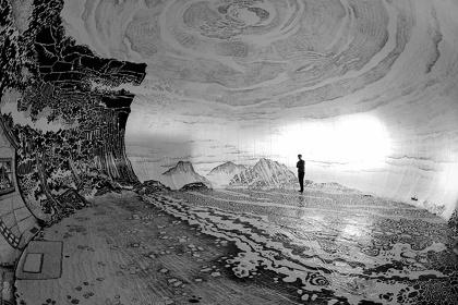 大岩オスカール『大岩島2』 瀬戸内国際芸術祭2013 Photo:Oscar Oiwa Studio