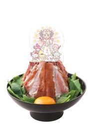 サンリオ幸子のメガローストビーフ丼 ©2017 SANRIO CO., LTD.