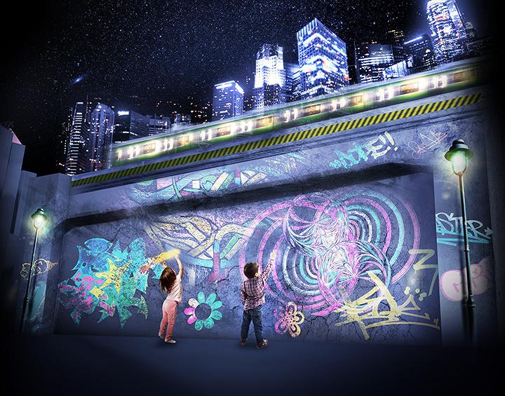 『TOKYO ART CITY by NAKED』「デジタル落書き」イメージビジュアル