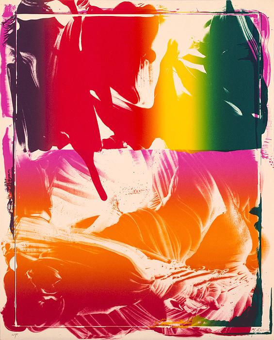 『稲妻捕り』PF-No. 3 1977年 カラーリトグラフ 62×50 cm