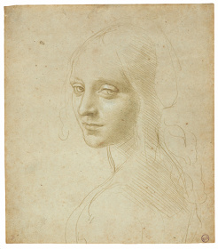 レオナルド・ダ・ヴィンチ『少女の肖像/〈岩窟の聖母〉の天使のための習作』1483-85年頃、トリノ王立図書館 ©Torino, Biblioteca Reale
