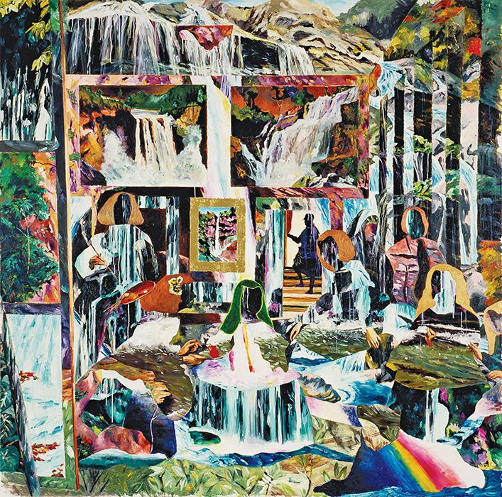横尾忠則『集合と分散-その力の働き』1991年 作家蔵(東京都現代美術館寄託)