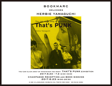 "『ハービー山口 写真展 ""You can click away of whatever you want: That's PUNK""』メインビジュアル"
