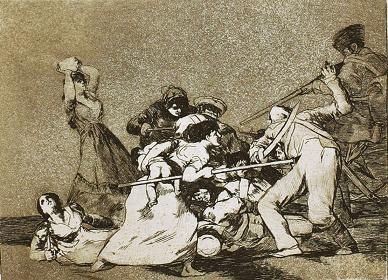 フランシスコ・ゴヤ『戦争の惨禍』より『やはり野獣だ』 1810-20年制作