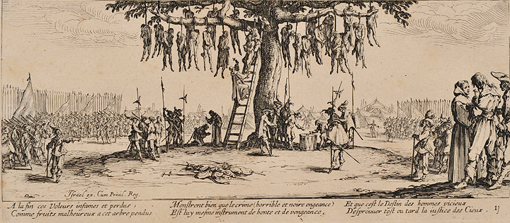 ジャック・カロ『戦争の惨禍』より『絞首刑』1633年刊