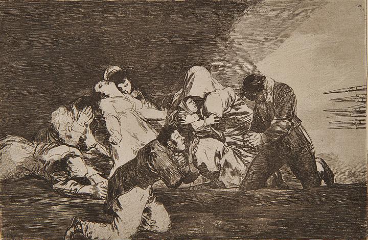 フランシスコ・ゴヤ『戦争の惨禍』より『見るにたえない』1810-20年制作