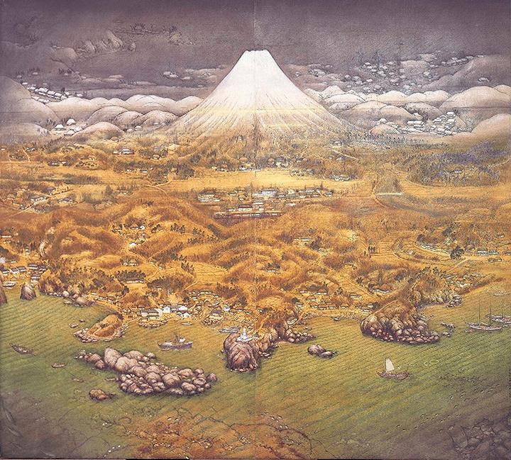 不染鉄『山海図絵(伊豆の追憶)』大正14(1925)年 木下美術館蔵