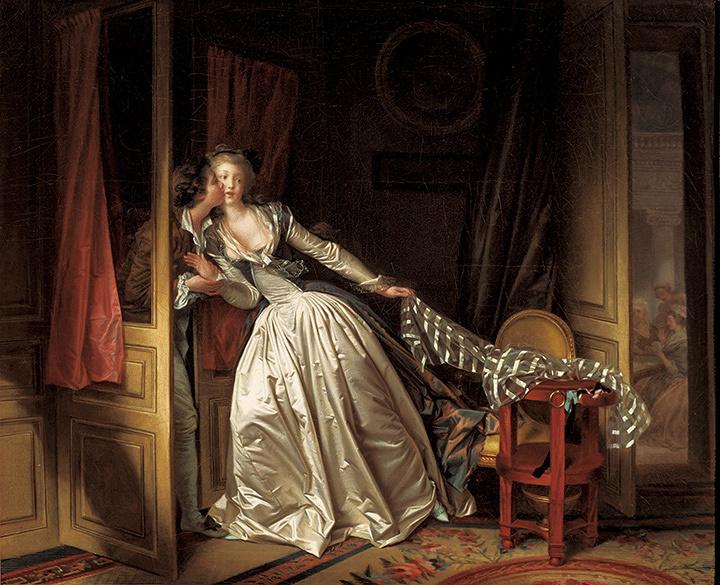 ジャン=オノレ・フラゴナール、マルグリット・ジェラール『盗まれた接吻』1780年代末 ©The State Hermitage Museum, St Petersburg, 2017-18