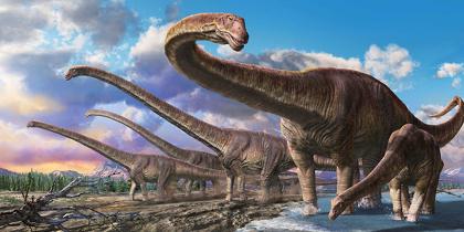 ルヤンゴサウルス 環境復元画