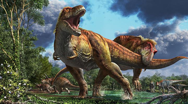 ティラノサウルス(愛称:ワイレックス)環境復元画