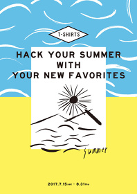 『HACK YOUR SUMMER WITH YOUR NEW FAVORITES』メインビジュアル