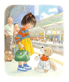 『こんとあき』(1989年)林明子・作、福音館書店刊、原画は宮城県美術館蔵