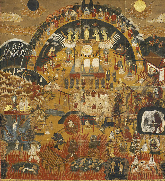 『熊野観心十界曼荼羅』 紙本着色 1幅 江戸時代 日本民藝館蔵 後期展示