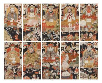 『地蔵十王図』紙本着色 13幅のうち10幅 江戸時代 東京・東覚寺蔵 通期展示