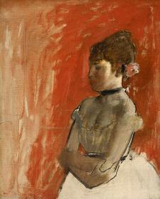 エドガー・ドガ『腕を組んだバレエの踊り子』 1872年頃 61.3cm×50.5cm 油彩、カンヴァス Bequest of John T. Spaulding, 48.534 Photograph ©2017 Museum of Fine Arts, Boston