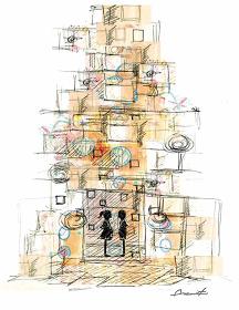 清川あさみによる巨大オブジェ(図案デッサン) ©Asami Kiyokawa/magma その他の画像