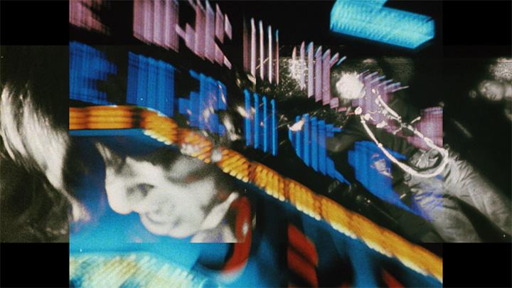 松本俊夫『つぶれかかった右目のために』 1968年 マルチプロジェクション(16ミリフィルムより変換) 東京都写真美術館蔵